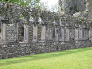 Jerpoint Abbey Cloisters in sunshine