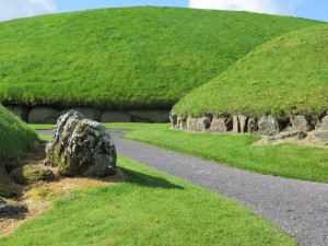 The Central Passage Mound at Knowth -- with Irish green grass
