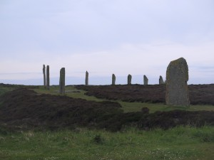 The Ring of Brodgar just before sunset mid-June