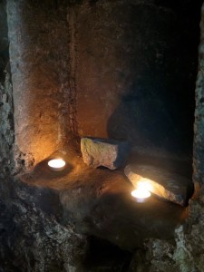 Candles at St Govan's Chapel